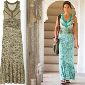 Athleta Green Maya Maxi Dress